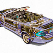 Transparent Car Concept Made In 3d Graphics 6 Poster