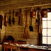 Trapper Supplies At The General Store Poster