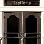 Trattoria Door Palm Springs Poster