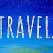 Travel Word Art Poster