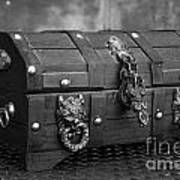 Treasure Chest In Black And White Poster