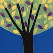 Tree In Blue Poster