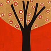 Tree In Orange Poster