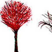 Tree Paintings In Wax Poster