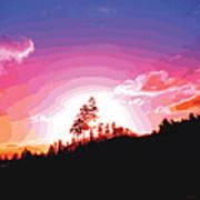 Tree Top Sunrise Poster