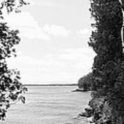 Trees At The Lakeside, Cave Point Poster
