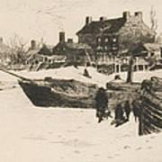 Trenton Winter Poster by Stephen Parrish