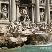 Trevi Fountain In Rome Italy Poster