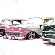 Tri Five Chevys Poster
