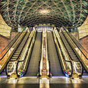 Triangeln Station Escalators Poster