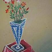 Triangle Flower Pot Poster