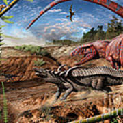 Triassic mural 2 Poster