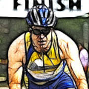 Triathalon Competitor Poster