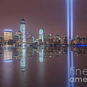 Tribute In Light Reflections Poster