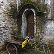 Tricycle Parked In Alleyway Poster