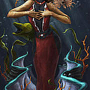 Tridacna - Red Poster