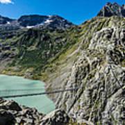 Triftsee Suspension Bridge - Gadmen - Switzerland Poster