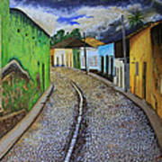 Trinidad Cuba Original Oil Painting 16x12in Poster