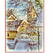 Trinity Episcopal Church In The Snow - Shepherdstown  Poster