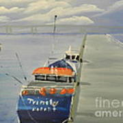 Trinity Long Line Fishing Trawler At San Remo  Poster