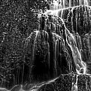 Trinity Waterfall In Monasterio De Piedra Park Bw Poster