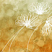 Trio Abstract Flower Art  Poster
