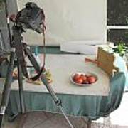 Tripod And Bowl Of Fruit Poster