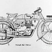 Triumph-bat 750c.c. Poster