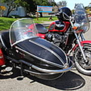 Triumph Motorcycle With Sidecar 5d28099 Poster