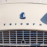 Triumph Tr3 Grille Emblem Poster