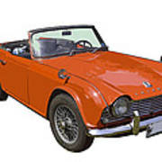 Triumph Tr4 - British - Sports Car Poster