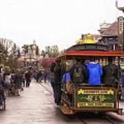 Trolley Car Main Street Disneyland 02 Poster