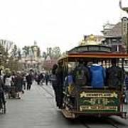 Trolley Car Main Street Disneyland 03 Poster