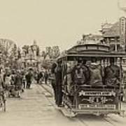 Trolley Car Main Street Disneyland Heirloom Poster