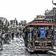 Trolley Car Main Street Disneyland Sc Poster