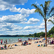Tropical Beach In Port Dover Poster