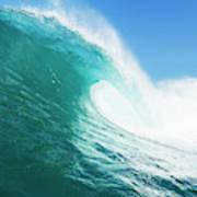 Tropical Blue Ocean Wave Poster