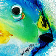Tropical Fish 2 - Abstract Art By Sharon Cummings Poster