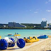 Tropical Fun At The Beach In Tumon Bay Guam Poster