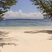 Tropical Island Beach Poster