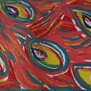 Tropical Peacock Poster by Jennifer Schwab