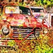 Truck Abstract Poster by Robert Jensen