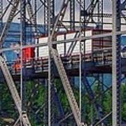 Truck On Bridge Of Gods Poster