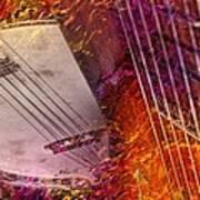 Truly Southern Digital Banjo And Guitar Art By Steven Langston Poster by Steven Lebron Langston