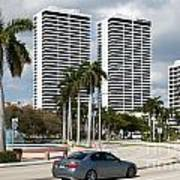 Trump Plaza In Downtown West Palm Beach Skyline Poster