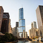 Trump Tower And Downtown Chicago Buildings Poster