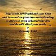 Trust In The Lord  Poster by Barbara Snyder
