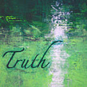 Truth - Emerald Green Abstract By Chakramoon Poster