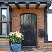Tudor Cottage Doorway Poster