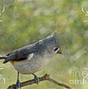 Tufted Titmouse With Decorations II Poster